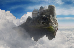 (via David Edwards - Digital Matte Painting gallery - Sky Castle)