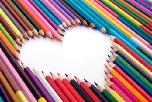 colors, heart, love, pensils, stripes - inspiring picture on Favim.com on We Heart It. http://weheartit.com/entry/10782281
