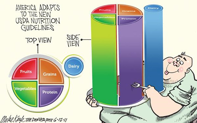 New Dietary Guidelines -The Post's Mike Keefe, June 12, 2011