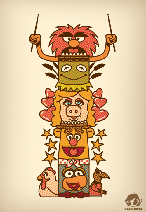 Here's my last submission to the @threadless Muppets challenge! #FriendShipTotemPole