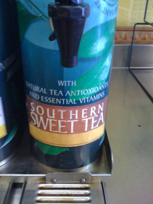 Back home your Fuze tea options at Subway are unsweetened and green tea. Here in Orlando your options are unsweetened and southern sweet tea. Good stuff.