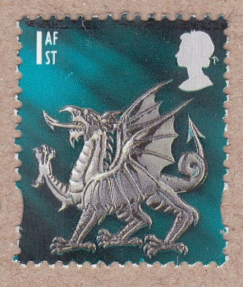GB - Regional Definitives, Wales 1afFirst day of issue: 8 June 1999Size: 20mm x 24mm