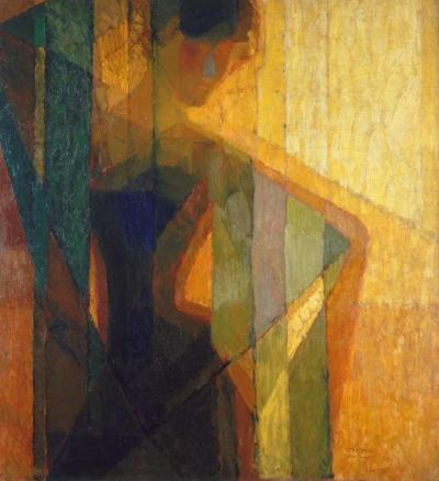 noonesnemesis:  Woman In Triangles by Frantisek Kupka 1909