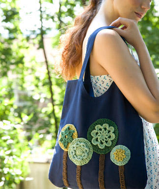 pattern: Crochet tree tote via Womans Day