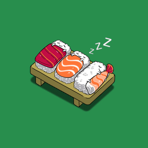 Sushi Who knew it was so adorable? Super cute design submission from Benjamin Ang. - AL