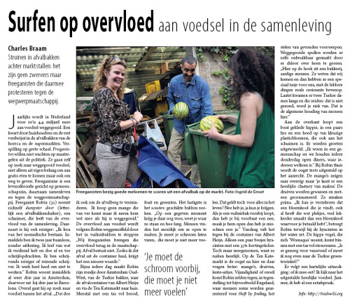 Report on dumpster diving in Amsterdam for Mug Magazine June 2011 (pdf).