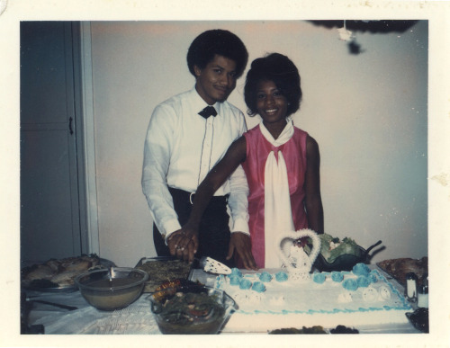 Newlyweds Michael & Gwen, Oct. 31, 1970 [Black Bride Series] ©WaheedPhotoArchive, 2011