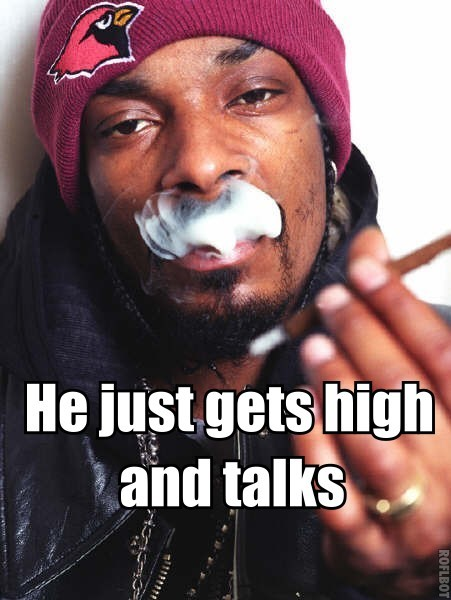 Snoop doesn't rap…
