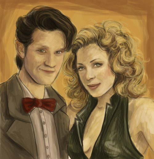 Really, really love that drawing :) Young River and The Doctor! by http://arelia-dawn.deviantart.com
