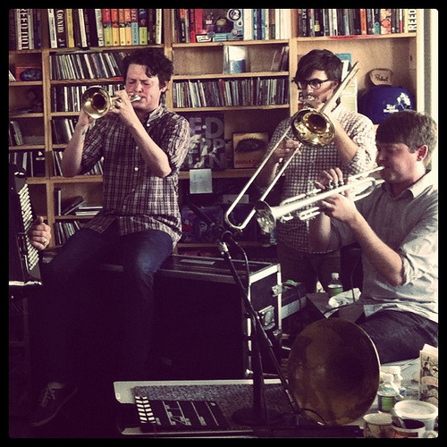 nprfreshair:  One more from the Tiny Desk Concert with Beirut (by alykat)  I want to play trumpet for beirut…