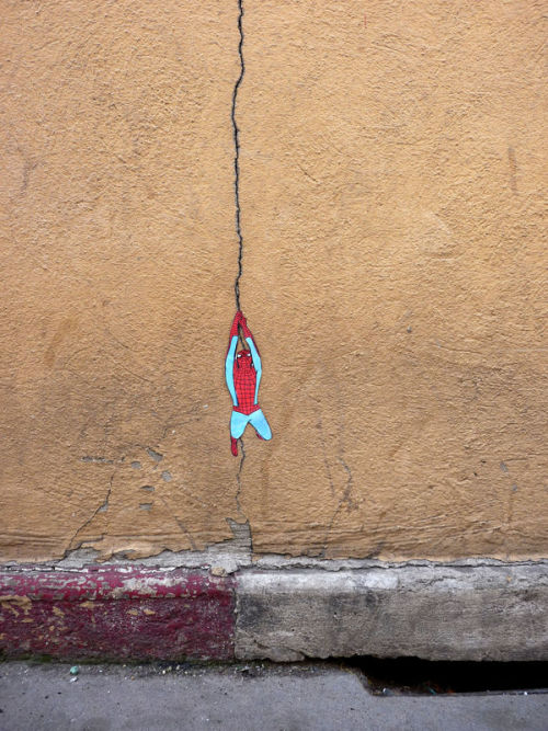 oliphillips:  Spider-man Street Art by OaKoAK