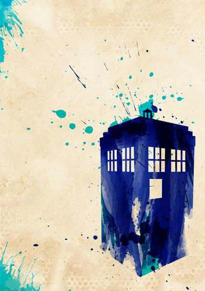 Doctor Who Watercolour style posters This TARDIS poster i did up is part of a series of posters i'm doing. The design and style is based on a couple amazing things i've seen lately. A mix of the water colour style from Arian Noveir and the minimalist posters by Karma Orange. I will make all these available on http://www.society6.com/studio/colincapurso and http://www.etsy.com/shop/colincapurso if anyone wants to get them. Some more posters below.