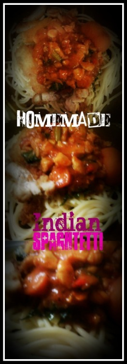 yum yum! my own-cook Indian style Spaghetti! :)