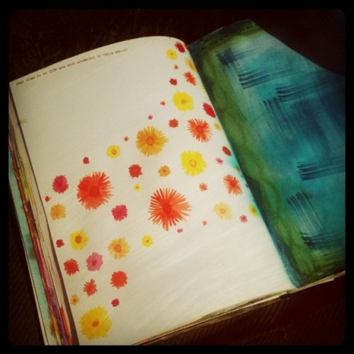 Art Journaling in the garden (Taken with instagram)