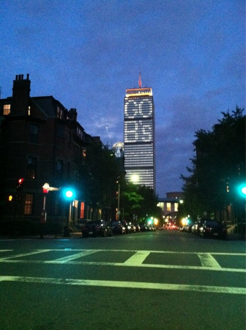 thatssorue:  We want the cup! Prudential Building - Boston