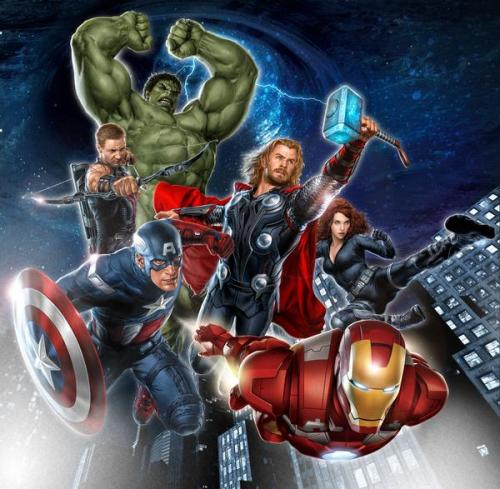 THE AVENGERS first teaser poster —  From the Licensing International Expo!  Director: Joss Whedon. Cast: Robert Downey Jr., Chris Hemsworth, Chris Evans, Scarlett Johansson, Jeremy Renner, Mark Ruffalo, Samuel L. Jackson, with Cobie Smulders, and Felicia Day!  In theaters May 4, 2012. Thx firebolting | roxanneritchi | pinkie-pi | comicsatthemovies