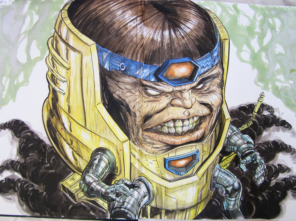 Modok 1 Inks, watercolors and copic markers