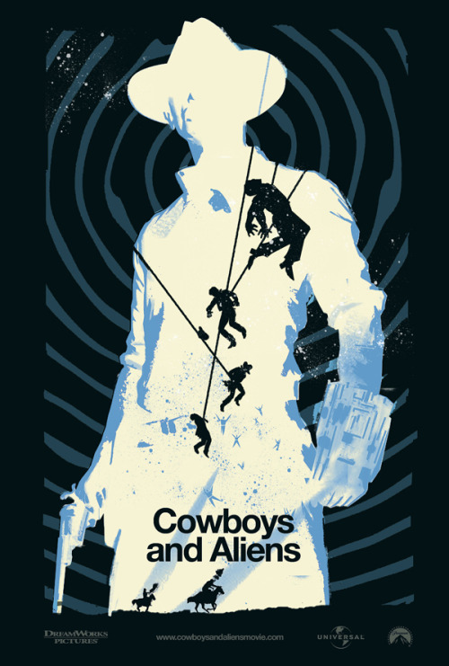 Amazing Cowboys & Aliens Art work Poster! from www.geektyrant.com Visit us at : www.thelittlestpictureshow.blogspot.com
