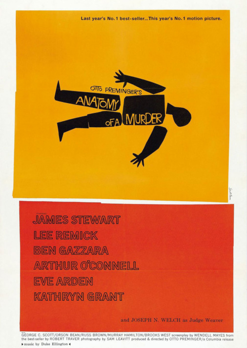 Saul Bass, Anatomy of a Murder, 1959