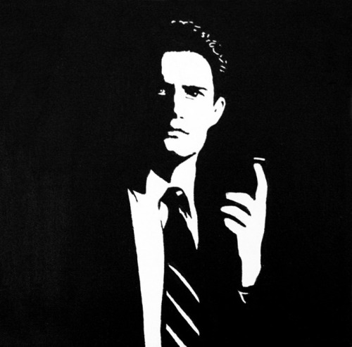 Agent Cooper, painted in.. 2009? 30 x 30 cm, acrylic on canvas.