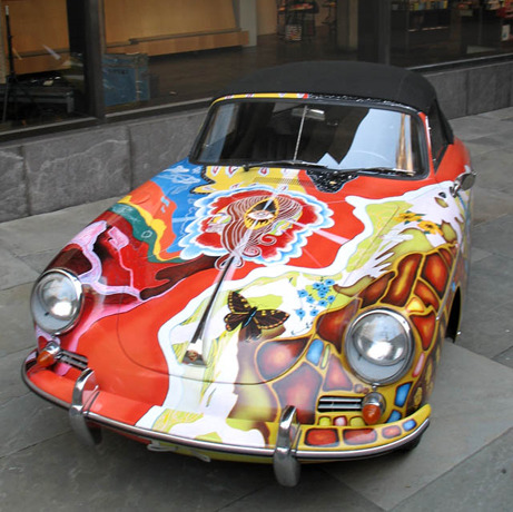 "Janis Joplin's painted Porsche""Summer of Love: Art of the Psychedelic Era"" at the Whitney Museum of American Art"
