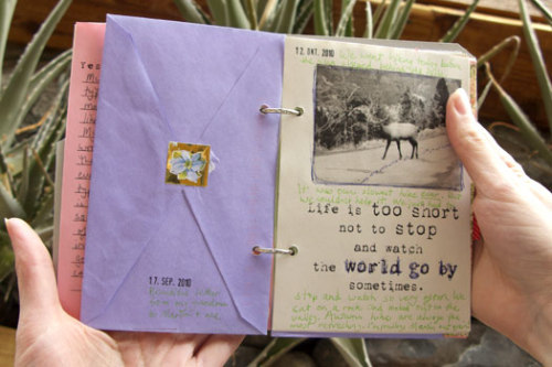 What to do with old cards (by simplemom). I love this journal idea, I've got tons of old cards and letters.