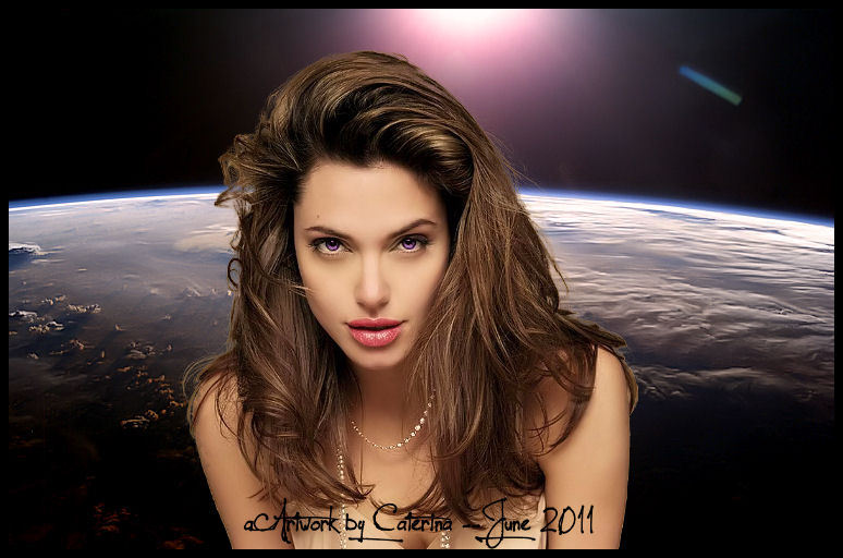 """Angelina in Space"" by Caterin'Art FOLLOW ME ON FACEBOOK"