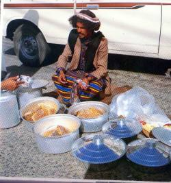 Honey seller in the south of Saudi Arabia, 1980s