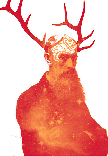Herne, God of the Wild Hunt by MatthewJamesTaylor Two color screen print on sale through my online store. Edition of 23 - signed and numbered.mattt.bigcartel.comwww.matttaylor.co.uk