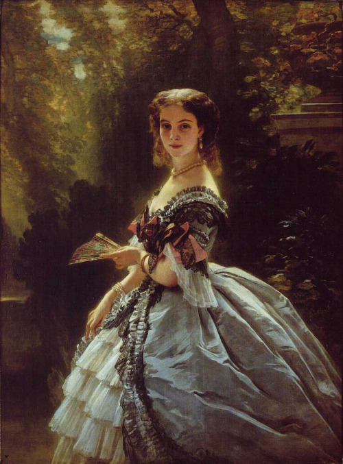 windypoplarsroom: 1859 Franz Xaver Winterhalter (German 1805-73) ~ Portrait of Princess Elizabeth Esperovna Belosselsky-Belosenky, Princess Troubetskoi