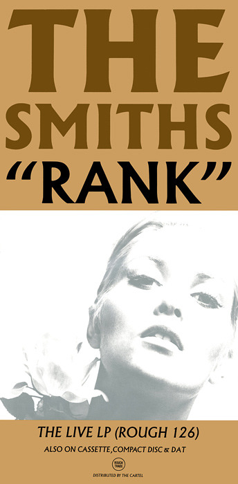 "Advertising poster for The Smiths Live album: ""Rank"" 09/1988 Cover star: Alexandra Bastedo, taken from the book:""Birds of Britain"" photographed by John d' Green"