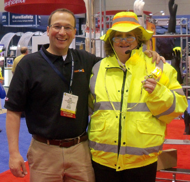 "A Safety Slogan from ASSE's Nancy O'Toole  ""Personal protective equipment is self- defense.""  Thanks, Protective Industrial Products, for exhibiting at Safety 2011! Hope to see you in Denver!"