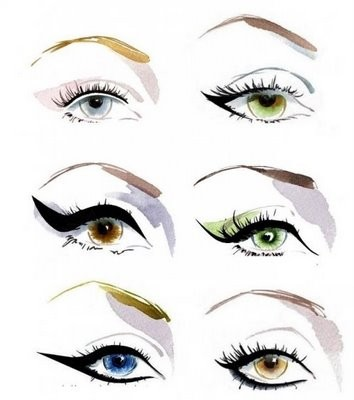 I think the cat-eye/winged eye liner look is always a fashionable choice :)  (via pinterest)