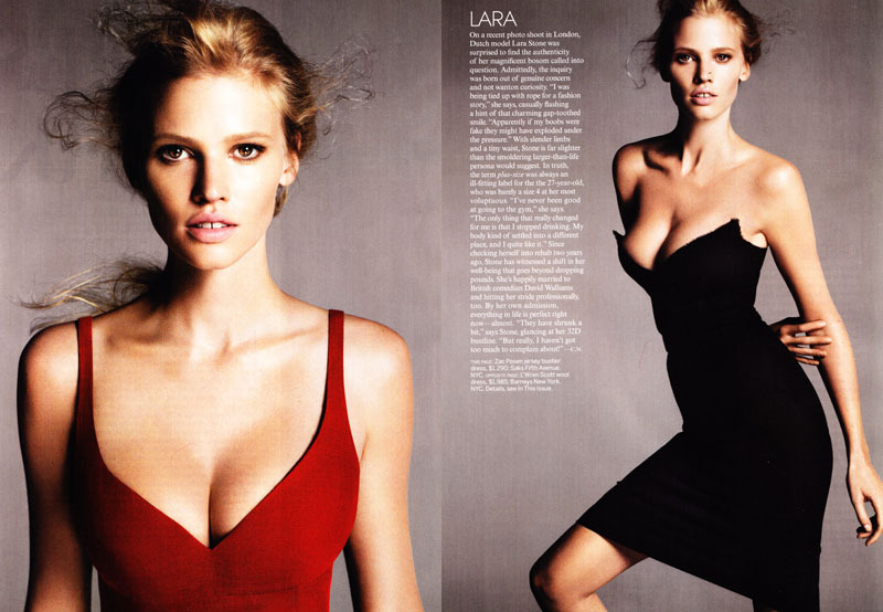 Lara Stone, Vogue US April 2011