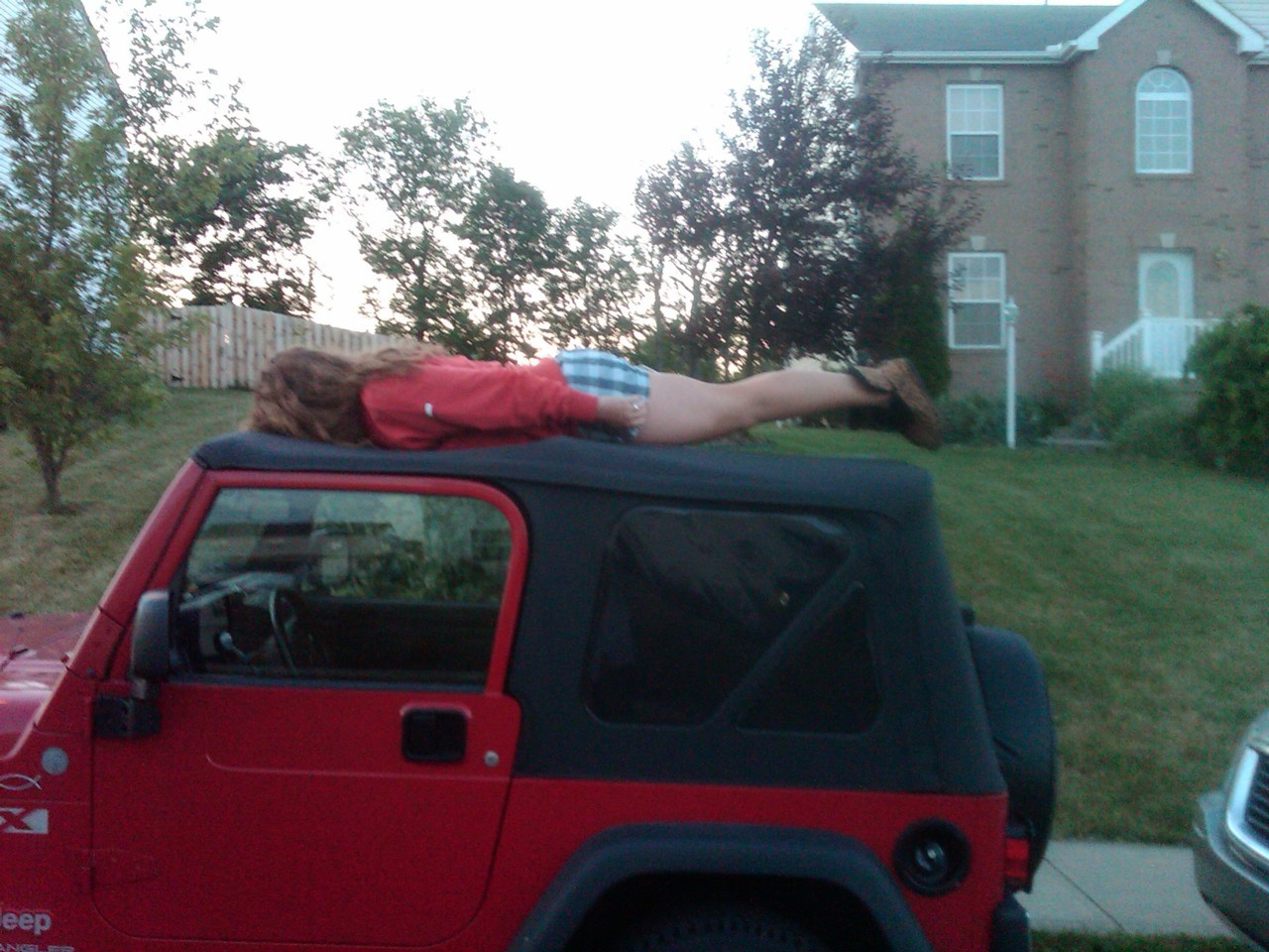 Corinne doing the Jeep plank