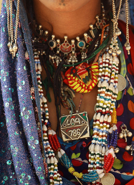 "Kuchi woman - Afghanistan ( the 786 on the necklace is a wide spread myth among muslims for meaning ""Bismillah Hirahmaan Niraaheem"" or In the Name of Allah the most gracious the most merciful. )"
