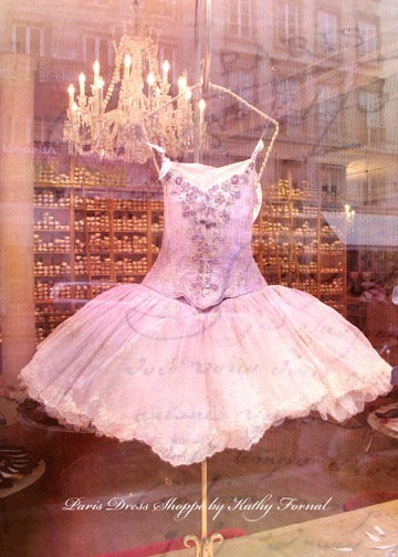Etsy. Paris Posh Pink Dress Boutique. Original signed fine art photograph by Kathy Fornal taken while in Paris during Christmas.