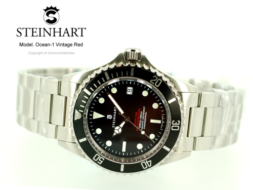 Steinhart Ocean 1 Vintage Red | Gnomon Watches For those who can't quite stomach the idea of coughing up the cash for a Red 1680.