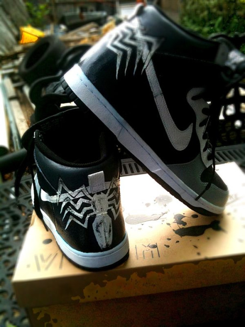 Custom venom dunks  Check out more my customs at Stompinggroundart.com