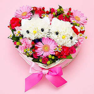 ibadkitteh:  How to make a Hello Kitty Flower Bouquet. If you're interested visit my blog for the steps. http://chikorimasou.blogspot.com/2011/06/artsy-craft-wednesday-hello-kitty.html