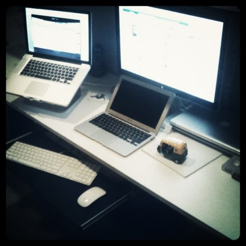 New job, back to the same workspace. (Taken with instagram)