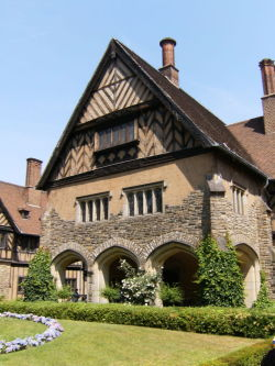 Cecilienhof, the home of Crown Prince Wilhelm Hohenzollern, in Potsdam Germany, site of the Potsdam Conference, 1945. Photo by ADL