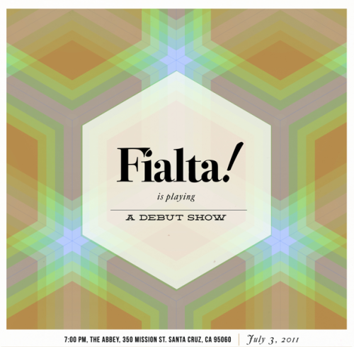 Fialta Band Poster Designed by Chris John Check them out!!