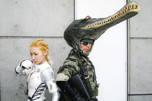 videogamenostalgia:  Metal Gear Solid cosplay - complete with crocodile cap.