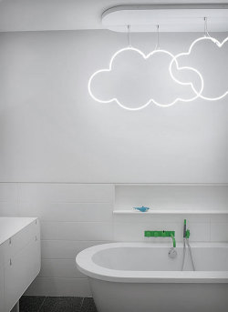 clouds in the bathroom? interesting idea