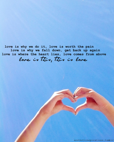 "aestheticaspirations:  Song: ""This = Love"" - The Script Image from: ourbeautifulpictures"
