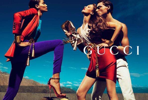 GUCCI  Featured: Karmen Pedaru, Joan Smalls, & Nikola Jovanovic. Photographers: Mert Alas & Marcus Piggott aMUSEme…Debutante.