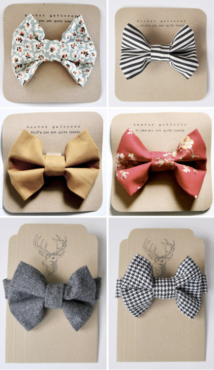 Fun bow ties for the groom and groomsmen!
