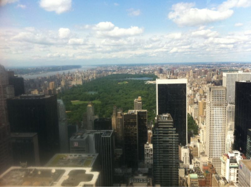 New York view from the Rockefeller Centre.