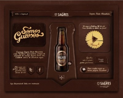 PORTUGUAL —Sagres Preta made the world's finest website entirely out of chocolate. See how it went from cacao to html here